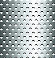 Seamless stainless metallic grid pattern vector image