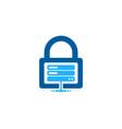 server security logo icon design vector image