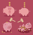 set of Piggy bank saving money vector image vector image