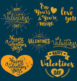 Set of valentines day badges vector image vector image