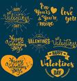 set valentines day badges vector image