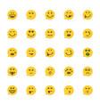 set yellow emoji speech bubble vector image vector image