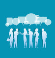 silhouette business corporate meeting concept vector image vector image