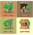 Street food concept posters People sell vector image vector image