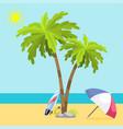summer time seach sea shore realistic accessory vector image vector image