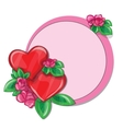 Valentine greeting card with hearts vector image