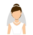 wife wedding dress isolated icon design vector image vector image