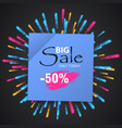 wow sale special offer banner sale poster vector image