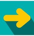 yellow right arrow flat icon