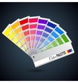 Color palette guide Catalogue cards vector image
