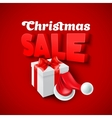 Christmas Sale with Santa hat vector image
