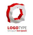 Abstract 3d logo vector image