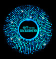 abstract blue ring background vector image vector image