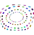 Abstract Halftone Circle Frame - Colorful vector image