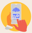 artificial intelligence in mobile phone concept vector image vector image
