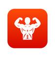 athletic man torso icon digital red vector image vector image