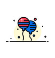 balloon balloons fly american business flat line vector image vector image