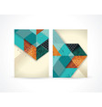 banners with abstract retro geometric pattern vector image vector image