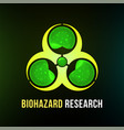 biohazard research poster with black background vector image vector image
