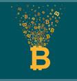 bitcoin virtual currency concept vector image vector image