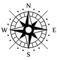Black Compass Symbol vector image vector image