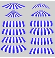 Blue White Tents vector image