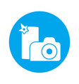 camera and smart phone make photo icon silhouette vector image vector image
