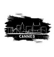 cannes france city skyline silhouette hand drawn vector image vector image