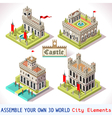 Castle 02 Tiles Isometric vector image vector image