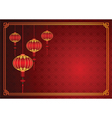 Chinese lantern template vector image vector image