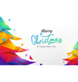 colorful christmas tree polygon background vector image
