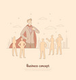 confident businessman brave superhero in suit vector image