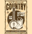 country music festival vintage poster vector image