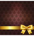 Dark Red Damask Background vector image vector image