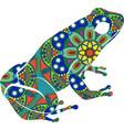 drawn ornamental doodle frog vector image