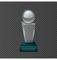 Empty glass trophy awards set design vector image