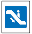escalator goes up sign vector image
