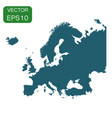 europe map icon business cartography concept vector image vector image