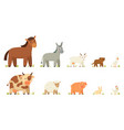 farm animals set isolated on white vector image