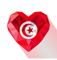 flat style logo symbol of love tunisia vector image vector image