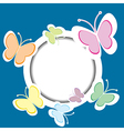 Frame with butterflies and place for your text vector image vector image