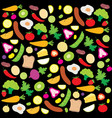fruit vegetable healthy food cook ingredient nutri vector image