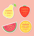 fruits with summer sale text vector image vector image