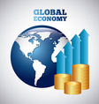 global economy vector image vector image