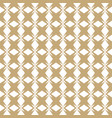 gold and white seamless pattern in asian style vector image