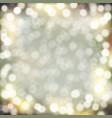 golden bokeh background vector image vector image