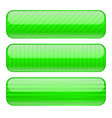 green rectangle buttons blank icons with stripe vector image vector image