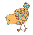 Hand drawn chick vector image