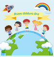 happy chaildrens day template vector image vector image