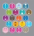 Hexagon Signs for Department Store vector image